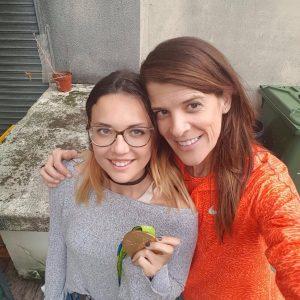 Ruth Beitia, or a Río, aconsella a Sandra Checa