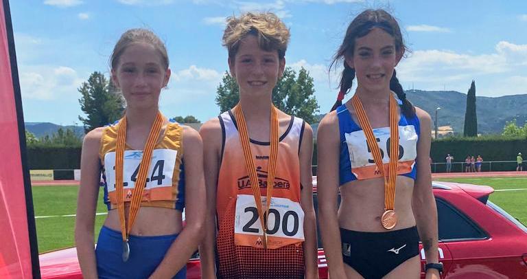 Carlota Puig, medalla d'argent en el salt d'alçada i nou rècord del club – Campionat de Catalunya Sub 10,12,14 i 16